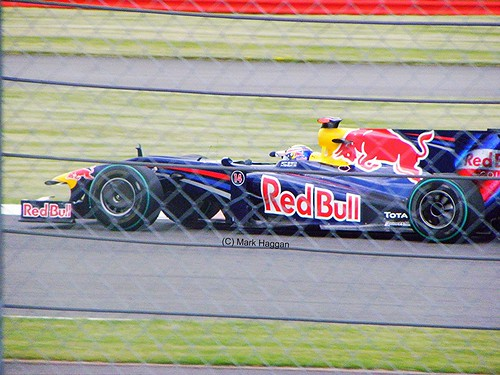 Mark Webber in his Red Bull Racing F1 car at the 2009 British Grand Prix
