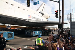 Space Shuttle Endeavor - Streets of Los Angeles 10/13/12 (futurenaut) Tags: california streets losangeles space center science shuttle endeavor