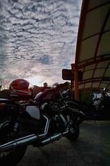 SDIM6735 (ketou-daisuki) Tags: autumn sky cloud tour parking sigma motorbike harleydavidson kagawa sportster cirrocumulus dp1 fortyeight xl1200x