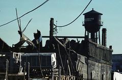 Ozone Park Industrial - 1970's (EssGee Photography) Tags: travel ny newyork color slr film analog trash 35mm vintage industrial grafitti kodak decay debris olympus tourist om1 ozonepark