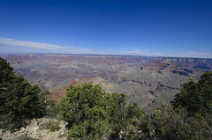 Better Than an Office (rschnaible) Tags: park blue trees red arizona sky usa southwest rock landscape us day desert cloudy south sunny grand canyon brush clear national geology rim geologic