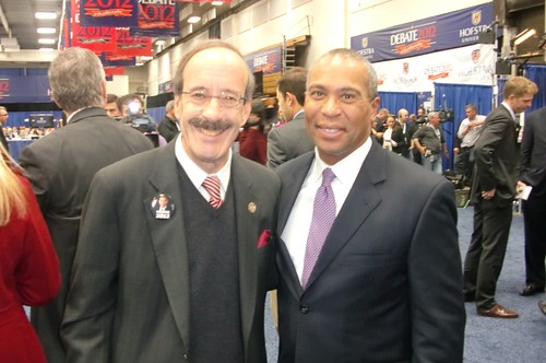 Rep. Engel at Hofstra with Gov. Patrick
