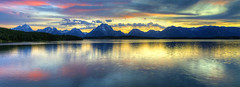 Evensong (Deby Dixon) Tags: travel sunset panorama reflection art tourism nature colors photography nikon adventure rockymountains tetons deby allrightsreserved 2012 grandtetonnationalpark jacksonlake daysend highquality femalephotographer naturespalette travelphotographer debydixon debydixonphotography
