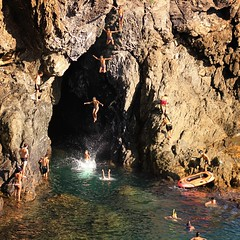 Adreline jump for the local kids at the cave in Monterosso (Bn) Tags: world travel blue sea summer cliff holiday heritage water colors kids swimming children fun island happy concentration site nationalpark cool intense jump jumping holidays rocks locals liguria nick joy dramatic rocky diving highlights cliffs unesco adventure edge terre multiple shooting cave dare traveling condor joyful popular monterosso topf100 idyllic adrenaline jumps thrill cinque exciting adriatic mediterraneansea continuous timing littlechair 100faves springboards adreline crystalclearblue littleeagles nickjumping
