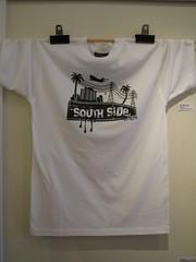 Southside T-shirt (2006) by Allen Vili aka Onesian (Fresh Gallery Otara) Tags: newzealand visualart artsale otara southauckland pacificart onesian allenvili
