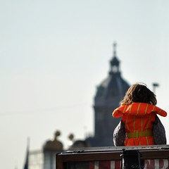 (A-cat-and-a-half) Tags: sea sky sun holiday girl beautiful amsterdam childhood boat kid candid canals safe candids lifejacket vaste likeatourist nikond90 canalsofamsterdam