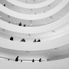 Ants marching at the Guggenheim (Amy Feldtmann) Tags: nyc bw newyork architecture guggenheim