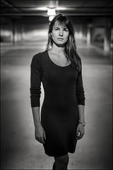 Parking lot (Les vues clectiques) Tags: portrait urban blackandwhite bw portraits noiretblanc bokeh wideopen jacynthe d3s sigma50mm14 sigma50mmf14dgex nikond3s francislhotelin
