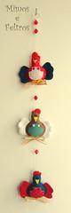 Galinhas Internacionais (Mimos e Feltros) Tags: handmade craft felt feltro decorao mbile galinhas decoraodecozinha mbiledegalinha