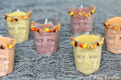 Reese's Pieces Shots by 1 Fine Cookie (1 Fine Cookie) Tags: thanksgiving autumn food orange brown fall halloween yellow skulls diy blog candy shots infusion liquor alcohol vodka recipes cocktails peanutbutter shotglasses reeses peanutbuttercups foodphotography nom reesespieces infusedvodka candyshots infusedalcohol infusedliquor