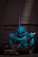 SD Gundam MS-14E Kampfer in the garage (danielxiafei) Tags: garage sd bb gundam bandai gunpla no40 kampfer ms14e