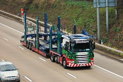 Eddie Stobart 'Heather Jane' (stavioni) Tags: car truck jane heather group automotive lorry trucks eddie trailer trailers transporter m25 scania chertsey stobart p420 ay12afx a9306