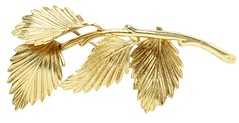 1045. Gold Leaf Brooch, by Grosse Germany, 1964