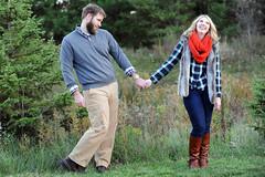 DSC_4944 (andrea.kerbuski) Tags: fall love nature pinetree beard outside engagement couple michigan lansing flannel