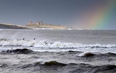 treasure (Ray Byrne) Tags: sea castle bay coast rainbow waves treasure northumberland dunstanburgh dunstanburghcastle raybyrne byrneoutcouk webnorthcouk