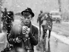 Blitzwinter in Lucerne (adde adesokan) Tags: street portrait snow hat switzerland swiss hipster streetphotography luzern olympus caffelatte lucerne omd 75mm m43 mft em5 streettogs