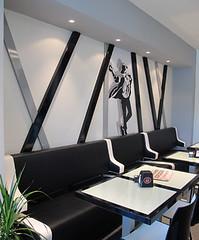 Black and white cafe (Marchi Interior Design) Tags: coffee café shop design cafe interior cafè coffeshop cafedesign cafeinteriordesign caféarchitectureintérieure ameublementcafé