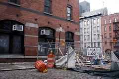 Construction chaos 2 (Mira (on the wall)) Tags: nyc newyorkcity aftermath flood sandy hurricane southstreetseaport floods seaport southstseaport frankenstorm hurricanesandy