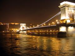Chain Bridge (Lnchid) from Viking Legend, Budapest HU (vic&becky) Tags: hungary enlightedbridge