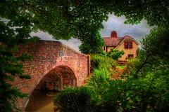 Mops Farm Bridge (sbox) Tags: england rural scenic bridges canals picturesque staffordshire 54 hdr waterways redbrick mopsfarmbridge