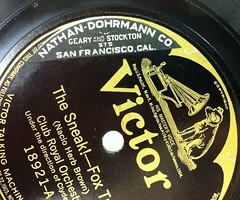 Clyde Doerr & Club Royal Orchestra, Victor 18921-A with Nathan-Dohrmann Co. sticker (bunky's pickle) Tags: music sanfranciscobayarea 1922 departmentstores storesshops 78rpm soundrecordings popularmusic recordlabels victortalkingmachinecompany phonographstickersstampsetc gearyststocktonstsanfranciscocalifornia brownnacioherb18961964 nathandohrmanncompanysanfranciscocalif doerrclyde