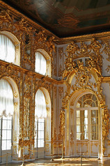 Catherine Palace (April.Moulton) Tags: lighting door travel windows sunlight architecture canon gold russia interior room palace doorway canon350d royalpalace nationalgeographic gilding pushkin stpetersberg candidphotography travelphotography tsars guilding tsarskoyeselo catherinepalace tsarskoye aprilmoulton