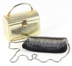 L15. Two Vintage High End Unsigned Evening Bags