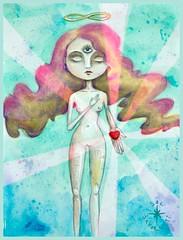 Transmutation (..:::.. .:. ::...) Tags: eye love sol illustration watercolor fantastic ray heart drawing floating fantasy third infinite mistic savoretti