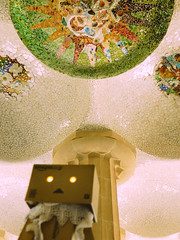 Danbo got lost in Parc Gell last Sunday (h i r o m i) Tags: barcelona gaudi gaud parcgell parkgell danbo danboard