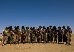 Afar Tribe Warriors, Assaita, Afar Regional State, Ethiopia (Eric Lafforgue) Tags: africa people horizontal standing outdoors photography community day adult african fulllength culture security tribal weapon warrior stick strength copyspace tradition ethiopia tribe ethnic adultsonly traditionalculture hornofafrica ethnology afar eastafrica youngmen traditionalclothing realpeople colorimage onlymen largegroupofpeople traveldestination danakil pastoralist indigenousculture africanculture peopleinarow mediumgroupofpeople nomadicpeople assaita asaita assayta a0700640