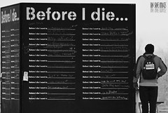 Before I Die I Want To. (Ian Sane) Tags: park street new white man black art wall oregon project river ian photography chalk orleans die box candid before images want cube pavilion to riverfront salem blackboard willamette global sane i