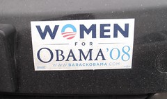 Election 2008, Obama, Bumper Sticker (photolibrarian) Tags: women bumpersticker obama election2008