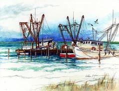 Amazing Grace-Revised (artwal9) Tags: boats shrimpboats inglesidetexas