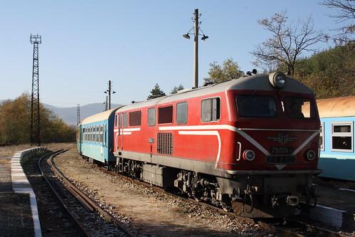 75004 pauses at Kostandovo on the 06:40 Dobrinishte - Septemvri