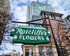 Ratcliff's Flowers Sign (Sky Noir) Tags: flowers urban usa sign buildings photography nc downtown charlotte unitedstatesofamerica north retro carolina newsouth clt ratcliffs skynoir