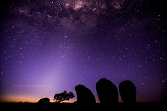 Explore - Australia (john white photos) Tags: sky rock night stars australian australia formation southaustralia milkyway eyrepeninsula murphyshaystacks