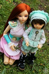 Prince Julian and Princess Amber, brothers ^^ (AniredaDolls) Tags: family amber julian doll dolls princess brothers ange prince together bjd soom limited fairyland ch hani customhouse angeai