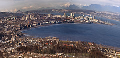 Edinburgh, but not as we know it (StevenMBeard) Tags: panorama mountains highlands edinburgh bridges quirky forthbridges eastlothian