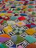 punchwork diamonds detail 2 (Kathejo B) Tags: art design artwork needlework handmade sewing textiles diamondpattern punchwork kathejob multicoloredpattern
