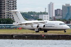 Cityjet - British Aerospace Avro RJ85 - EI-WXA  London City Airport (paulstevenchalmers) Tags: london londoncity lcy airport