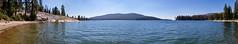 Shaver Lake panorama (BorrowedLightPhoto) Tags: shaverlake water trees sky forest smokeintheair deadtrees canon tamron microsoftice acdseepro panorama