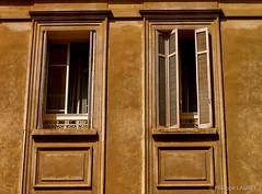 Ajaccio (Philippe LAURET, Paris) Tags: faade france elements window ocre elmentdarchitecture facade ochre pays ajaccio ocher corse architecture couleurs fentre shutter eau volet fr