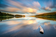 Graphics Clouds (JulienGr) Tags: clouds cloud lake landscape lakescape serviere servieres lac auvergne long exposure graphic stillness calm serenity reflection summer lacserviere lee filter filters nikon d750