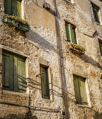 a typical wall in Venice, Italy (sandybrinsdon) Tags: italy venice windowbox europe flickr texture