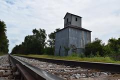 tracking through Farson (David Sebben) Tags: railroad tracks grain elevator farson iowa milwaukee canadian pacific smalltown abandoned
