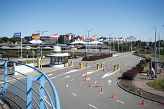 Gates of ESTEC (europeanspaceagency) Tags: openestec estec noordwijk openday entrance flags ers1 weekendofscience