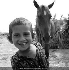 Untitled 116 (Amna Yaseen) Tags: child horse sindh tribe