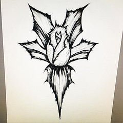 Another Wip (daniel.thorn) Tags: dark darkart darkness illustration illustrator rose tattoo tattoos sketch goth gothic