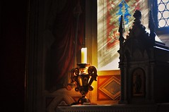 Colour and Shadow (Matthew David C) Tags: italy shadow lucca nikon d5000 classic tuscany serene flickr contrast red light sun summer church candle time