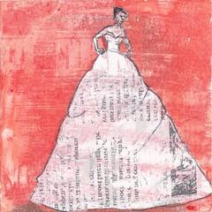 # 230 (17-08-2016) (h e r m a n) Tags: herman illustratie tekening bock oosterhout zwembad 10x10cm 3651tekenevent tegeltje drawing illustration karton carton cardboard vrouw woman dress jurk jurkje red rood